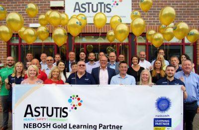 Learning partner Astutis receive prestigious Gold ranking from NEBOSH