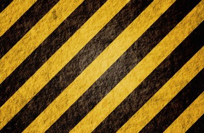 hazard black and yellow stripes