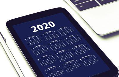 2020 agenda calendar