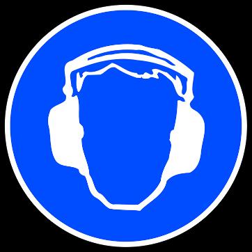 blue safety sign