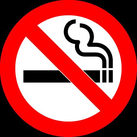 red cigarette sign