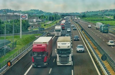 HGV on Motorway driving safely