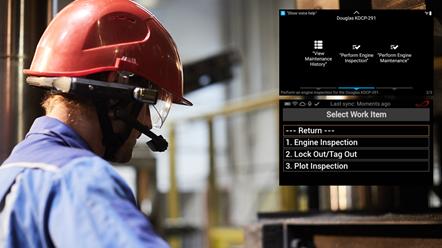 Helmet worker